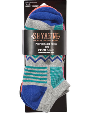 Shyanne Women's Zig Zag No-Show Performance Socks, Multi, hi-res