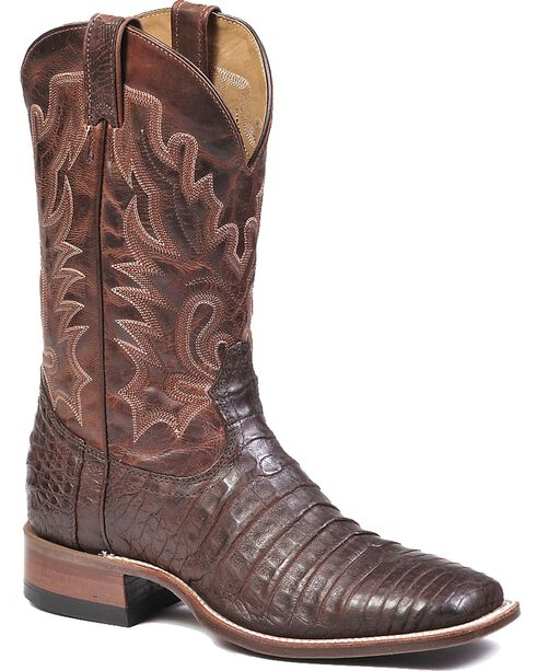 Boulet Brown Caimain Belly Cowboy Boots - Square Toe, , hi-res