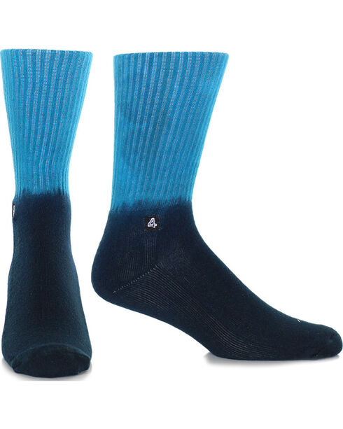 BR4SS Men's Ombre Premium Socks, Turquoise, hi-res