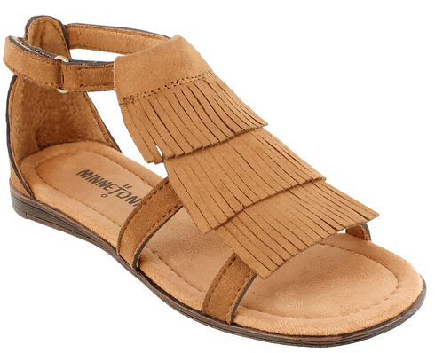 Minnetonka Girls' Maya Sandals, Brown, hi-res