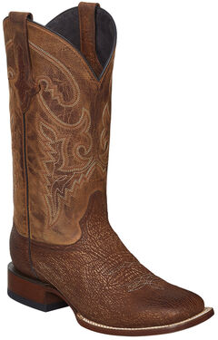 Lucchese Cognac Ryan Shark Cowboy Boots - Square Toe , , hi-res
