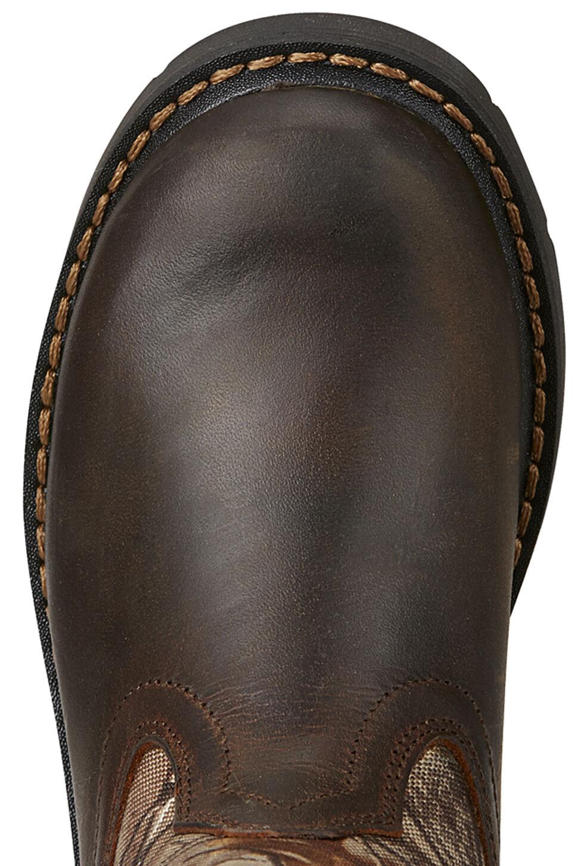 Ariat Kid's Brown Sierra Boots - Round Toe, Black, hi-res