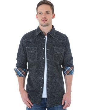 Wrangler 20X Men's Black Paisley Shirt, Grey, hi-res