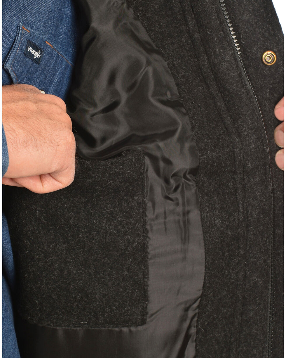 Powder River Outfitters Men's Snap-Front Wool Vest, Black, hi-res