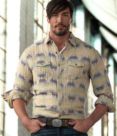 Ryan Michael Men's Aztec Jacquard Shirt , , hi-res