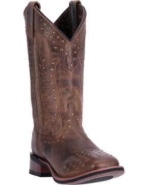 Laredo Deja Voo Cowgirl Boots - Square Toe , Tan, hi-res