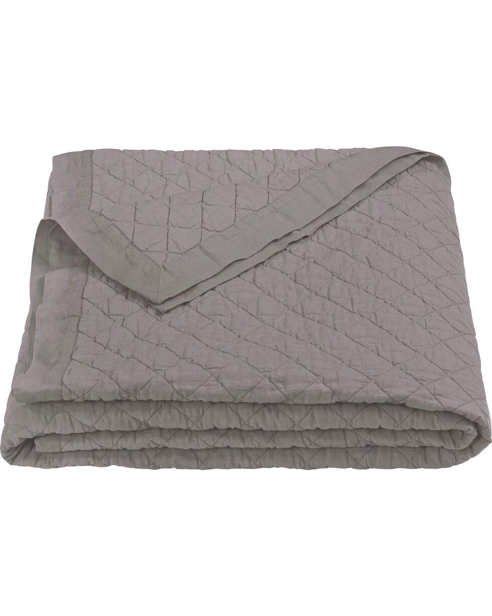 HiEnd Accents Diamond Pattern Grey Linen Full/Queen Quilt, Grey, hi-res
