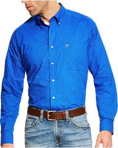 Ariat Men's Blue Boyd Printed Long Sleeve Western Shirt - Tall , Blue, hi-res
