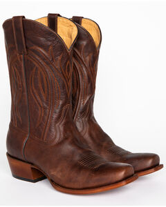Cody James Men's Embroidered Western Boots - Square Toe, Chocolate, hi-res