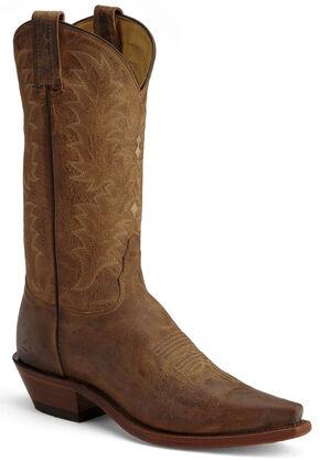 Tony Lama El Paso Goatskin Cowgirl Boots, Tan, hi-res