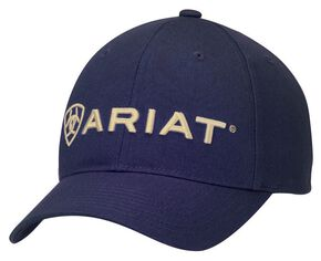 Ariat Navy Logo Cap, Navy, hi-res