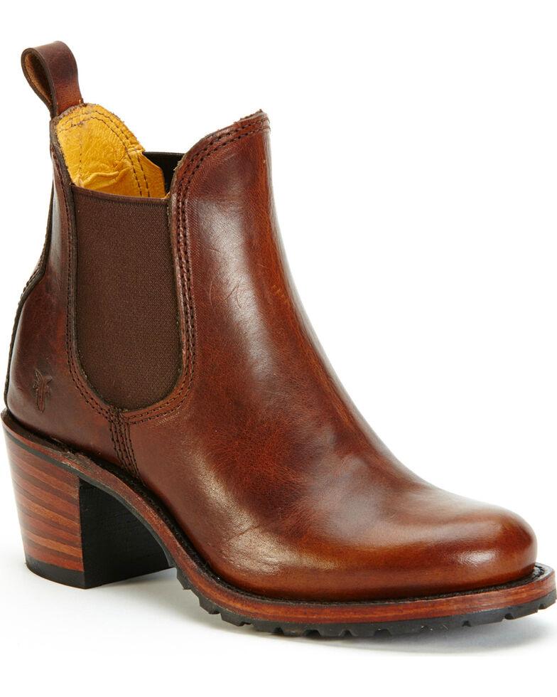 Frye Womens Cognac Sabrina Chelsea Boots  Round Toe        Cognac       hires