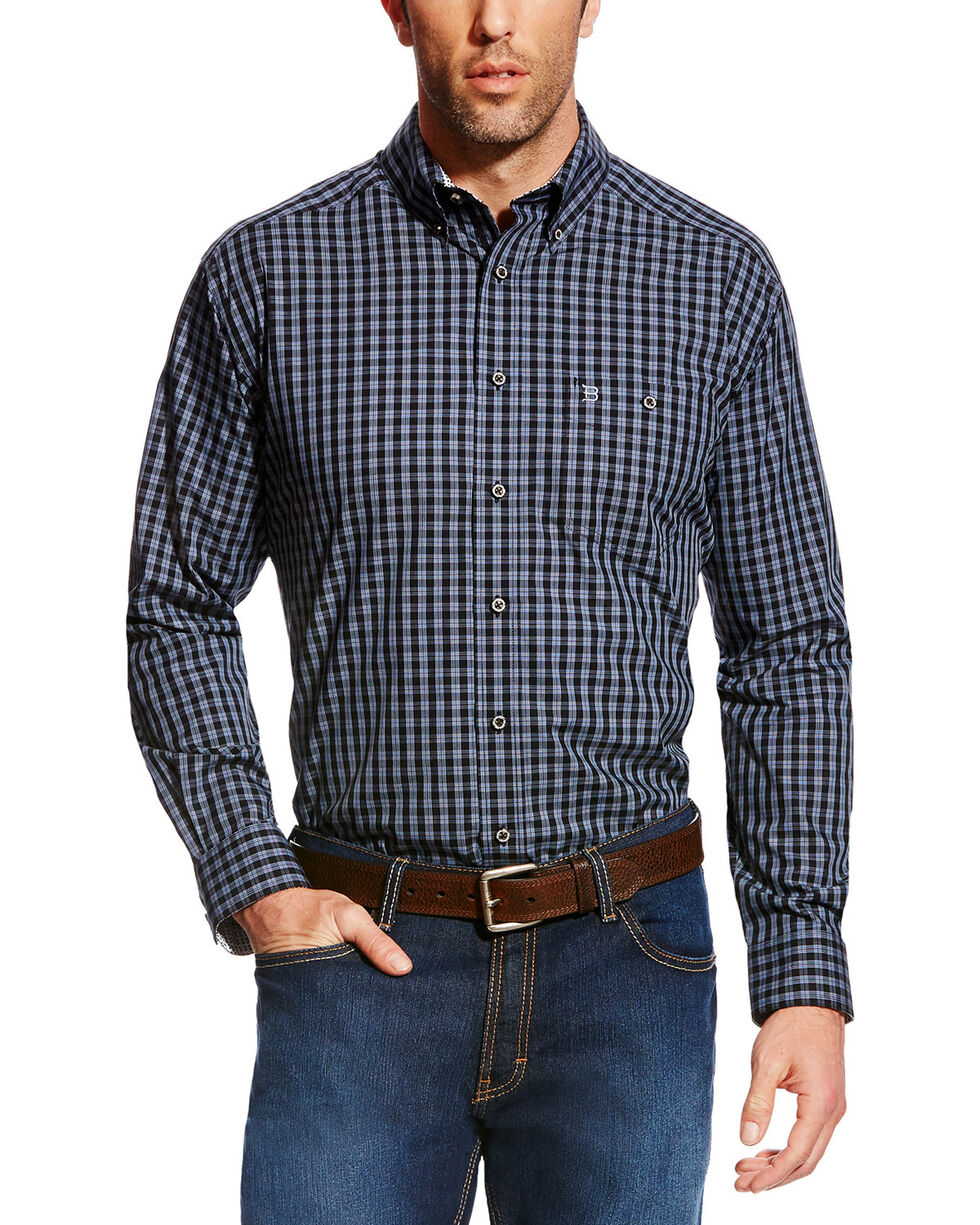 Ariat Men's Black Boundless Wrinkle Free Western Shirt , Black, hi-res
