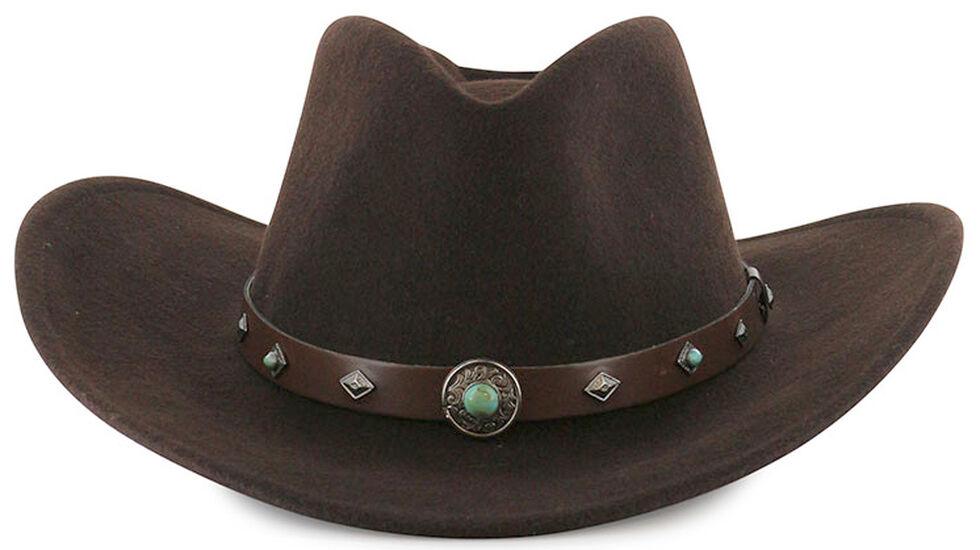 Cody James Men's Santa Ana Wool Hat Brown, Brown, hi-res