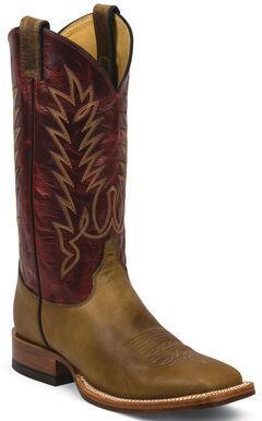 Justin Tan Damiana Cowboy Boots - Square Toe, Tan, hi-res