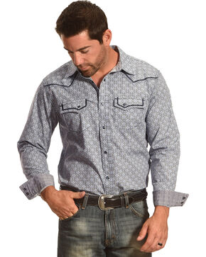 Cody James Las Cruces Long Sleeve Print Shirt, Grey, hi-res
