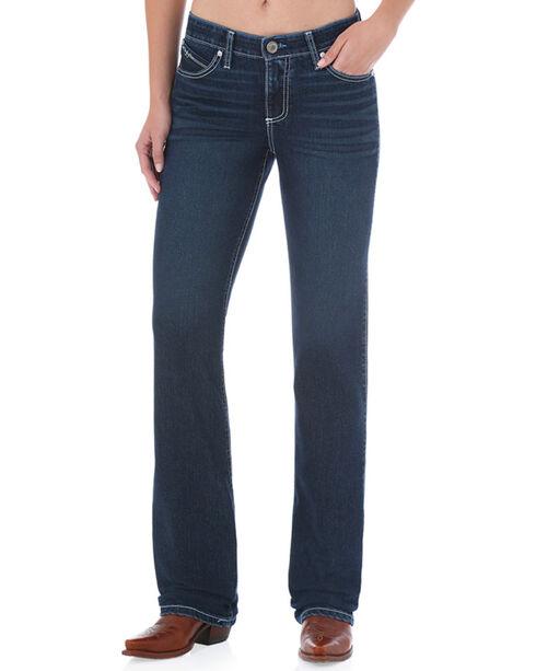 Wrangler Women's Blue Cool Vantage Ultimate Riding Jeans - Boot Cut, Blue, hi-res