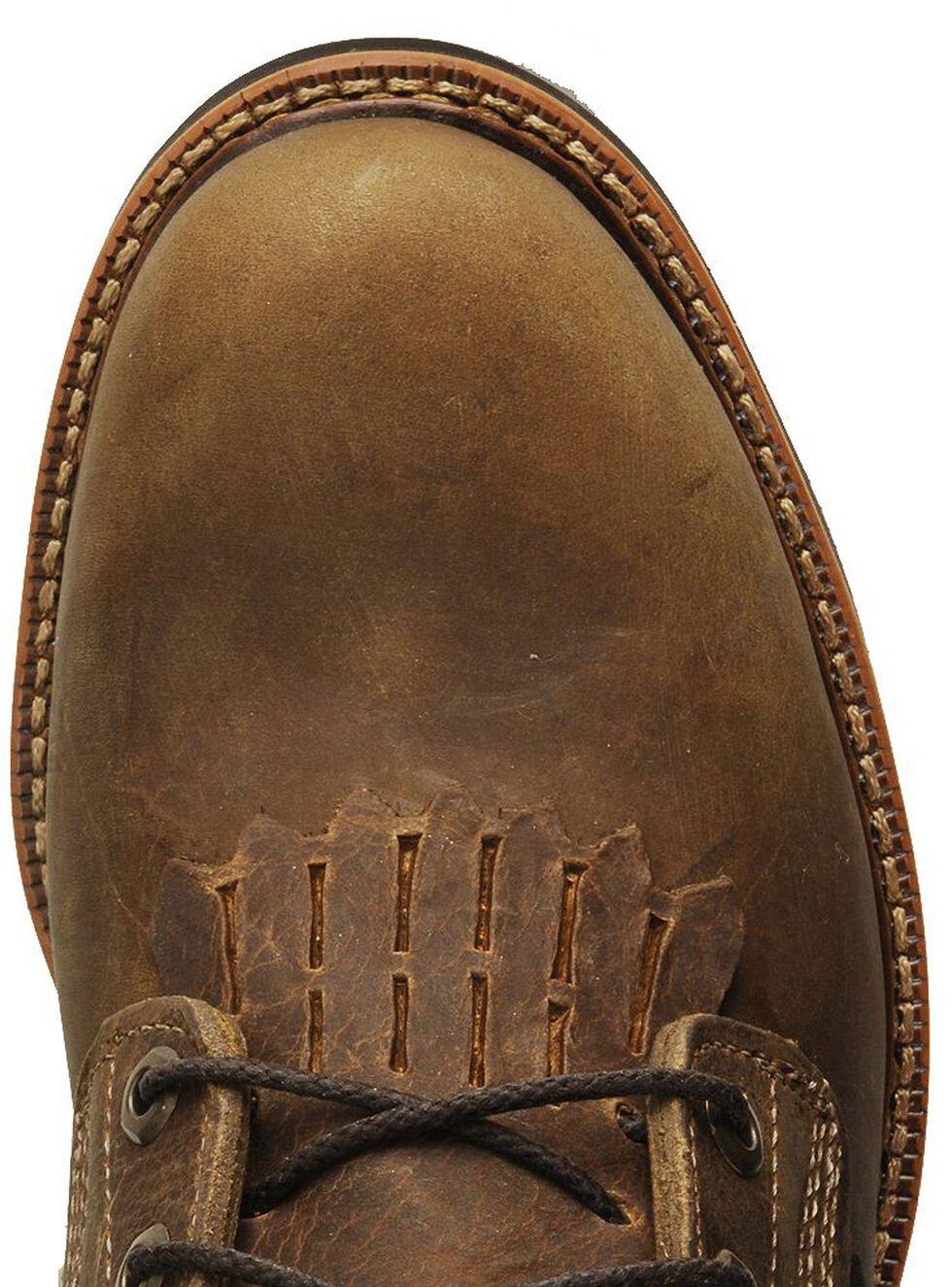 """Justin Men's J-Max 8"""" Blueprint Lace-Up EH Work Boots - Steel Toe, Tan, hi-res"""