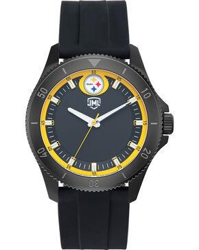 Jack Mason Men's Pittsburgh Blackout Silicone Watch , Black, hi-res