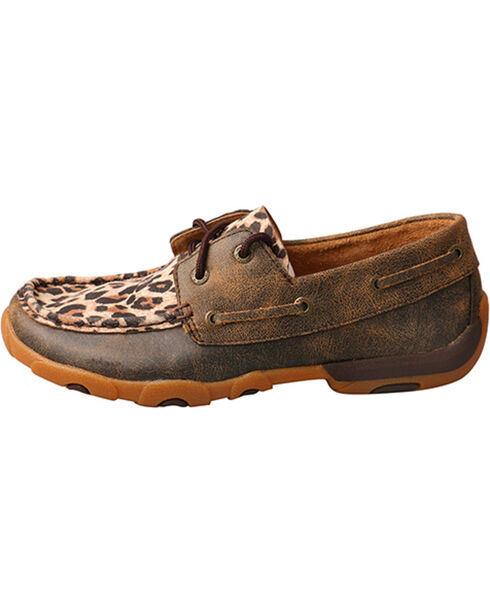 Twisted X Women's Cheetah Print Driving Moccasins - Moc Toe, Leopard, hi-res