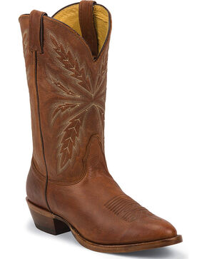 Nocona Tejas Brown Legacy Western Boots - Round Toe, Brown, hi-res