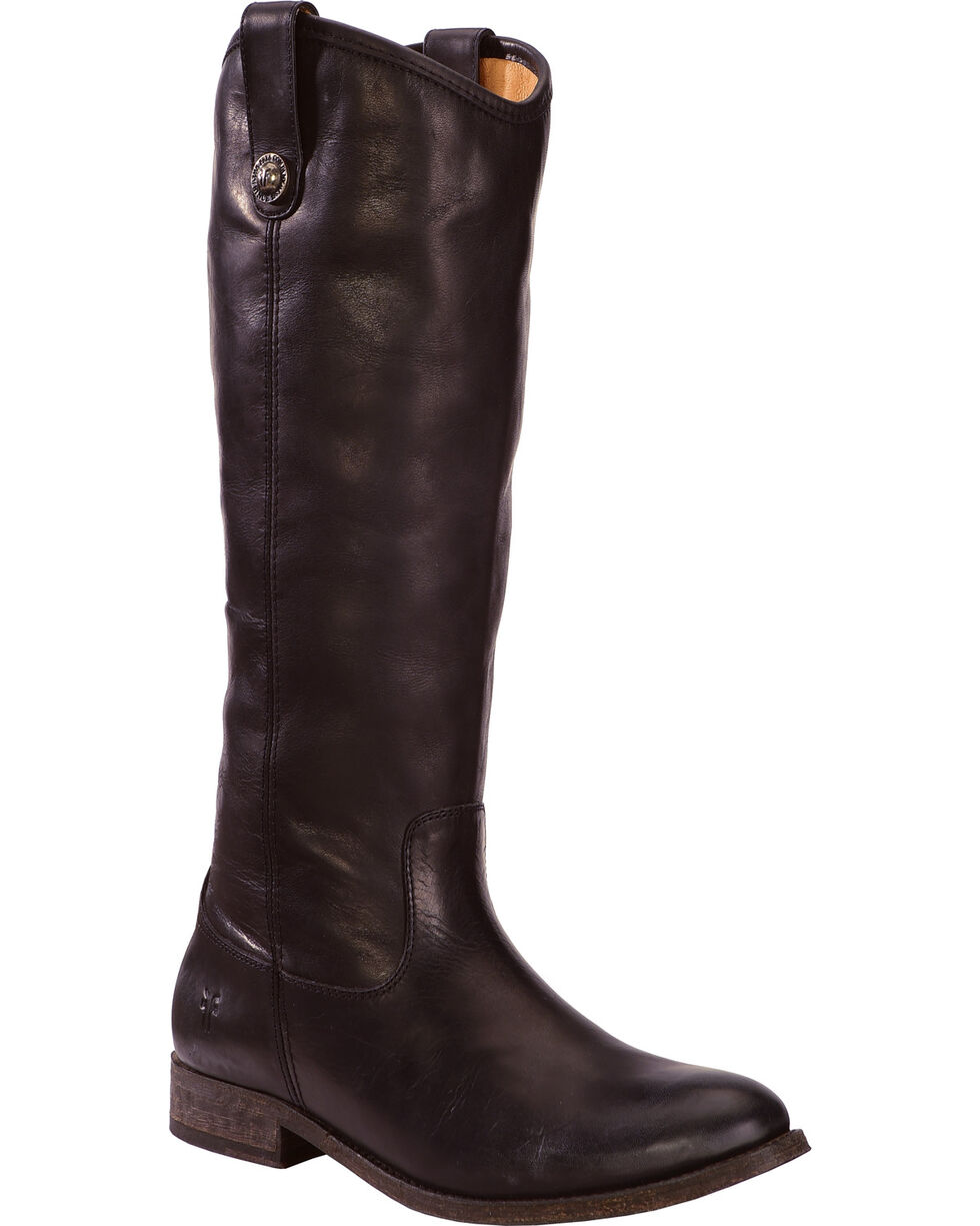 Frye Women's Melissa Button Riding Boots, Black, hi-res