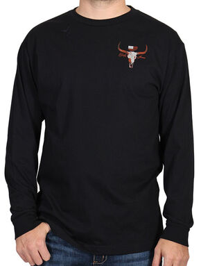 Cody James Men's Saloon Graphic Long Sleeve Tee, Black, hi-res