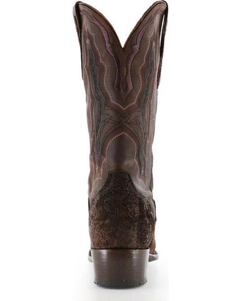 El Dorado Men's Handmade Genuine Sueded Hippo Western Boots - Square Toe, Chocolate, hi-res