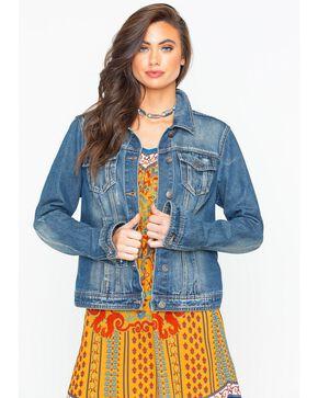 Shyanne Women's Vintage Washed Denim Jacket , Blue, hi-res