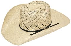 Twister 10X Shantung Twister Crown Straw Cowboy Hat, Natural, hi-res