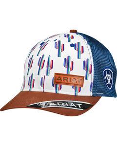 Ariat Women's Multi-Colored Cactus Cap, White, hi-res