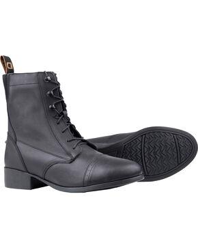 Dublin Elevation Laced Paddock Black Equestrian Boots, Black, hi-res