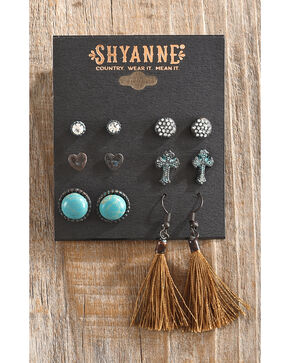 Shyanne Women's Odessa Multi-Stud Earring Set, Turquoise, hi-res