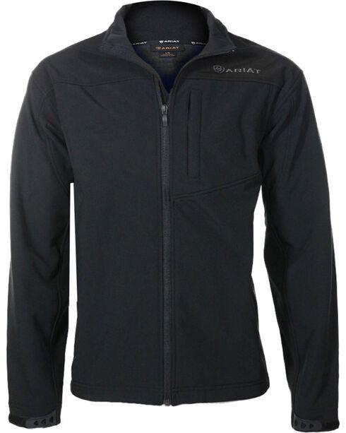 Ariat Men's Black Vernon Softshell Jacket , Black, hi-res