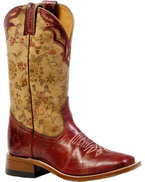 Boulet Women's Puma Rojo Cowgirl Boots - Square Toe, Red Oak, hi-res