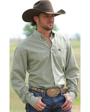 Cinch Men's Multi Long Sleeve Plain Weave Shirt , Multi, hi-res