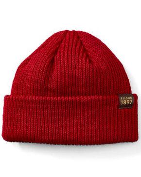 Filson Knit Watch Cap Beanie, Dark Red, hi-res