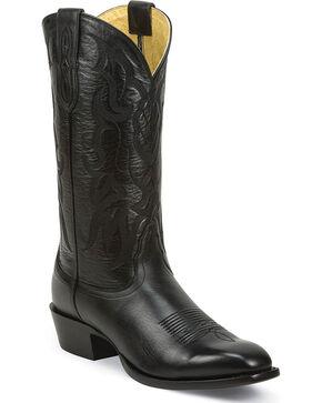 Nocona Men's Vargas Black Western Boots - Round Toe, Black, hi-res