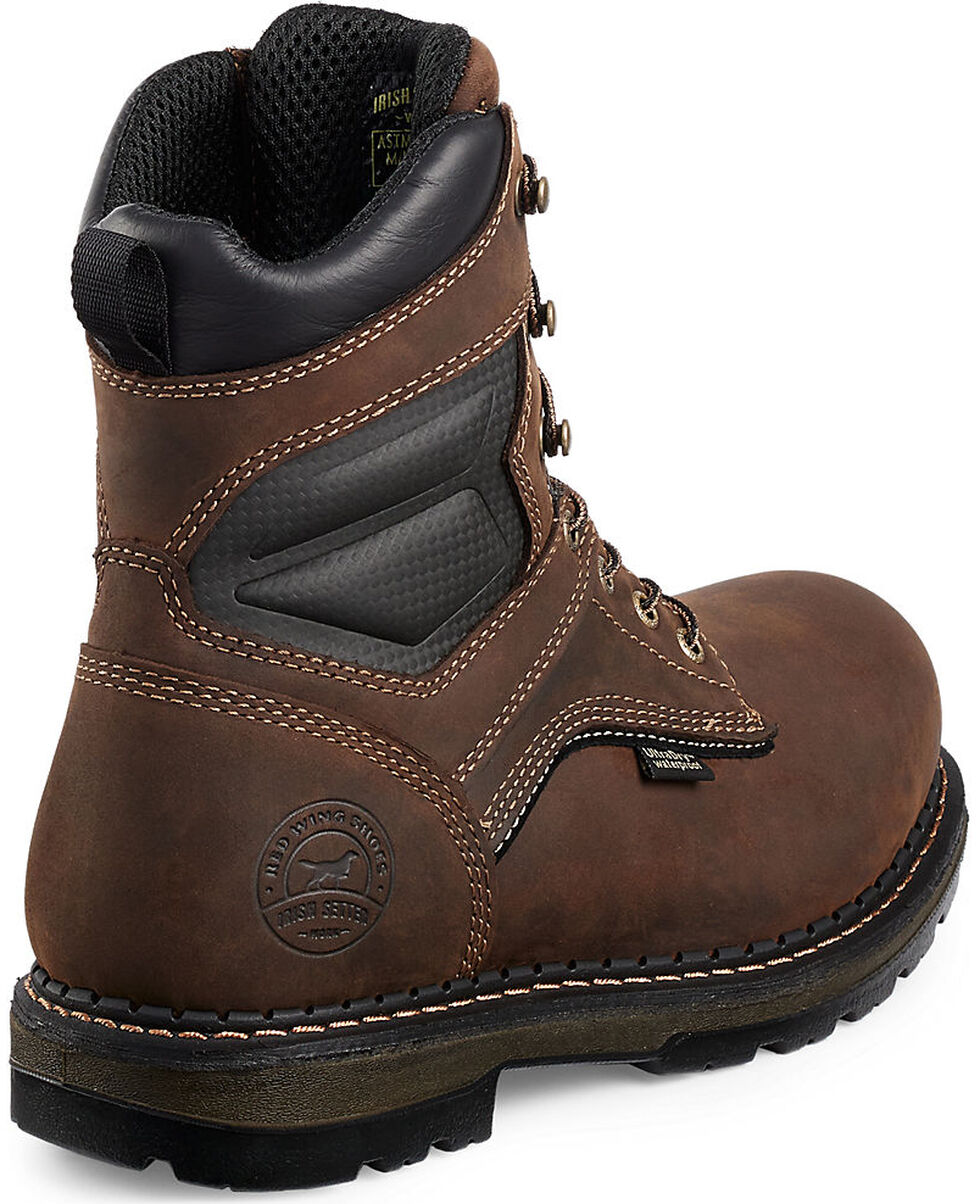 """Irish Setter by Red Wing Shoes Men's Ramsey 8"""" Work Boots - Aluminum Toe, Brown, hi-res"""
