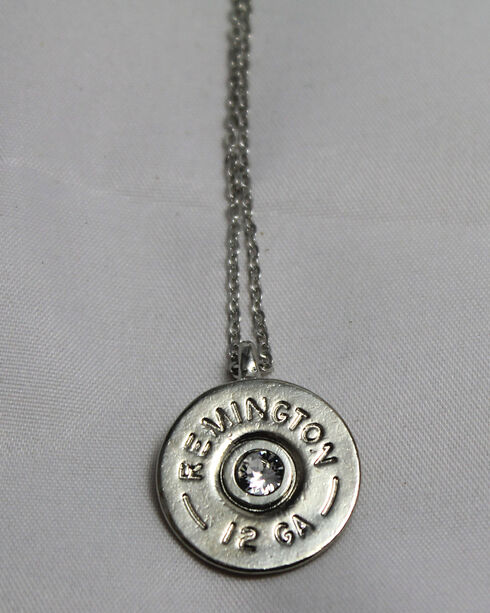 SouthLife Supply Women's Oakley Shotshell Necklace in Traditional Silver with Crystal, Silver, hi-res