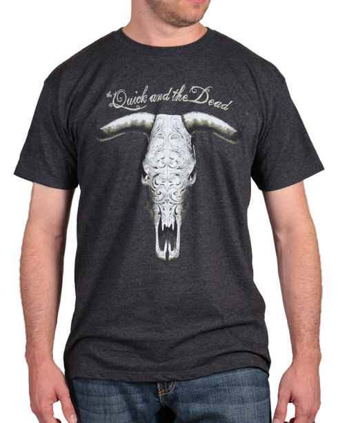 Cody James Men's Quick & Dead T-Shirt , Grey, hi-res