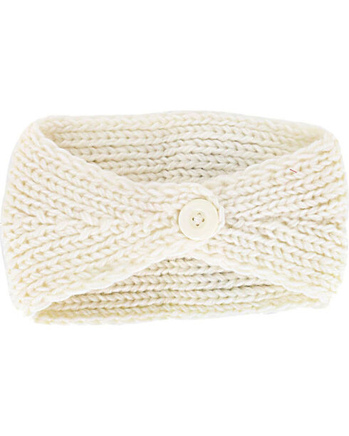 Shyanne Rhinestone Knitted Ear Warmer, Cream, hi-res