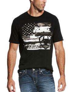 Ariat Men's Black Americana T-Shirt , Black, hi-res