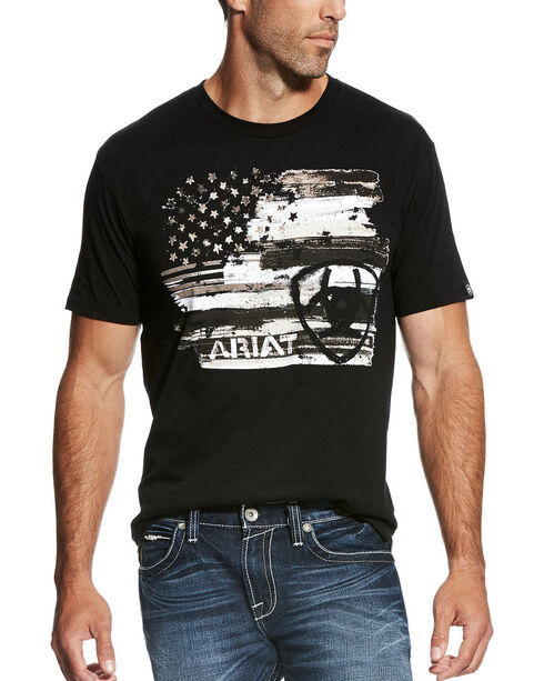 Ariat Men's Black Americana T-Shirt , , hi-res