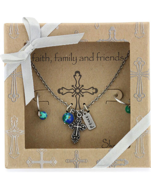 Shyanne Women's Faith Family & Friends Jewelry , Silver, hi-res