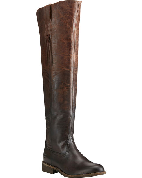 Ariat Women's Chocolate Farrah Sassy Boots - Round Toe , Chocolate, hi-res