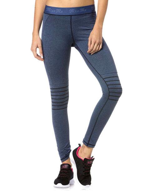 Miss Me Women's Blue Moto Active Leggings, Blue, hi-res