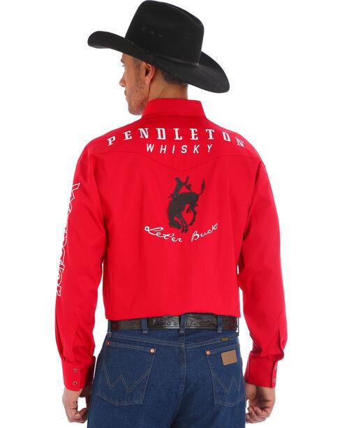 Wrangler Men's Red Pendleton Wester Logo Long Sleeve Shirt - Big and Tall , Red, hi-res