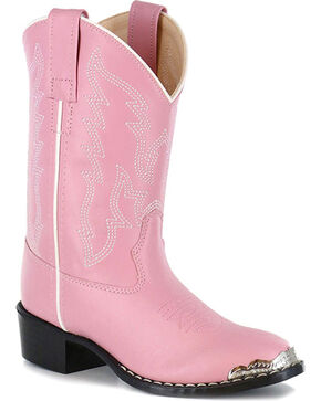 Shyanne Girls' Pink Metal Toe Rand Western Boots - Round Toe , Pink, hi-res