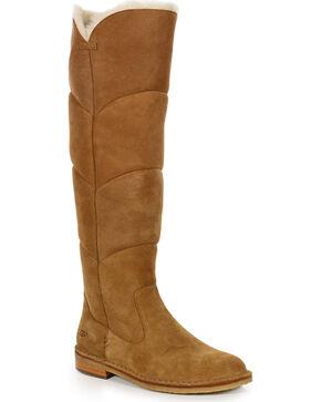 UGG Women's Chestnut Samantha Tall Boots - Round Toe , Brown, hi-res